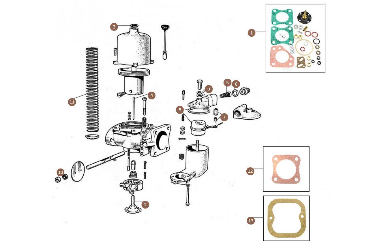 Carburettor (VIN till Rolls-Royce SWC186 & Bentley B450BS)