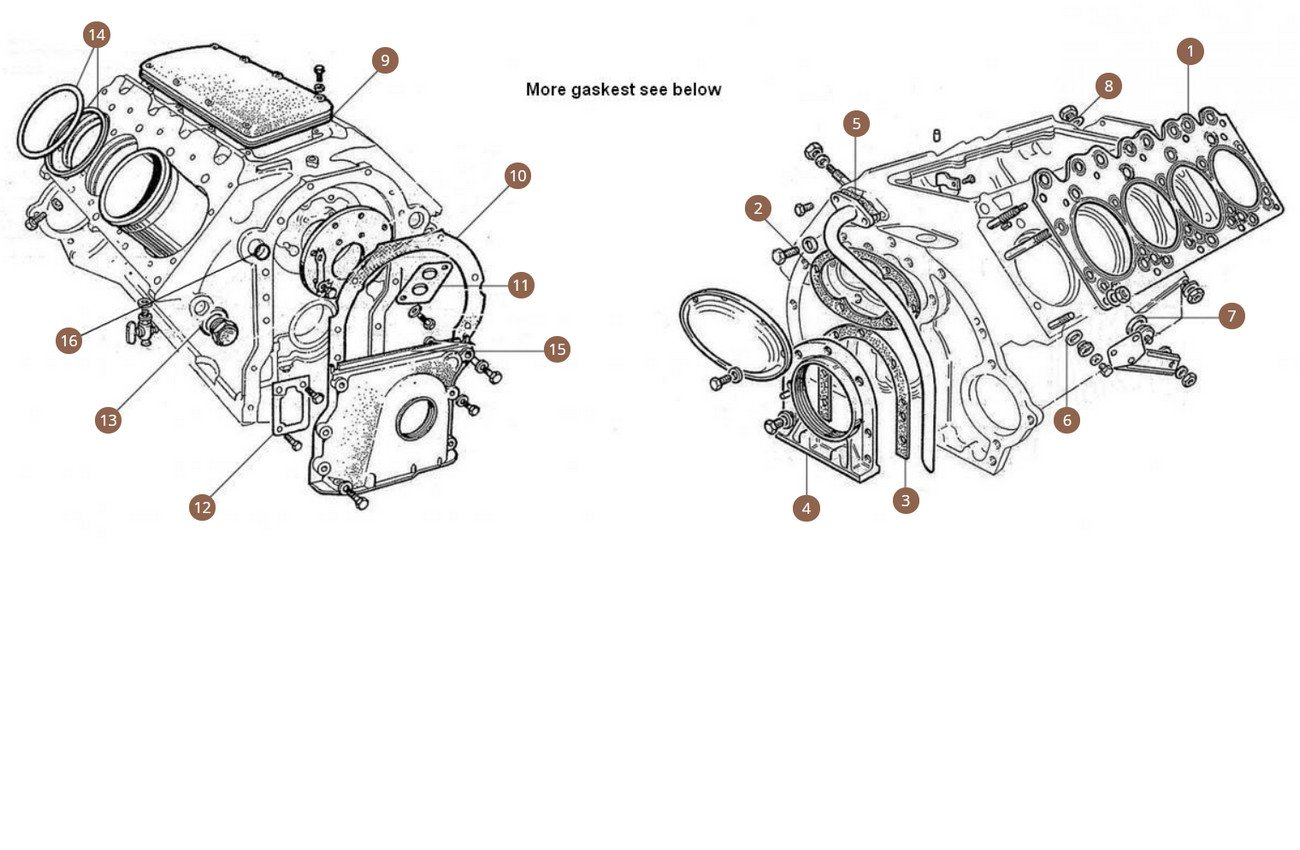 Engine Gaskets Middle