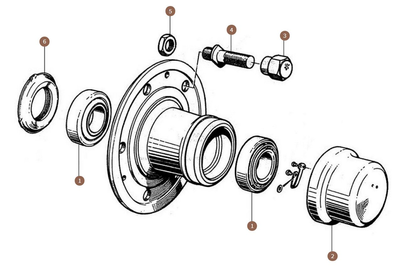 Front Hub & Wheels