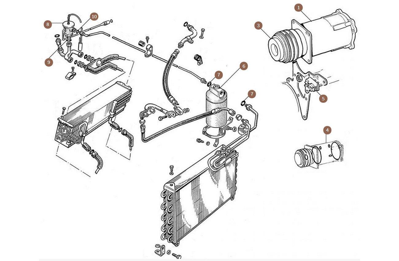 Compressor & Drier & Expansion Valve
