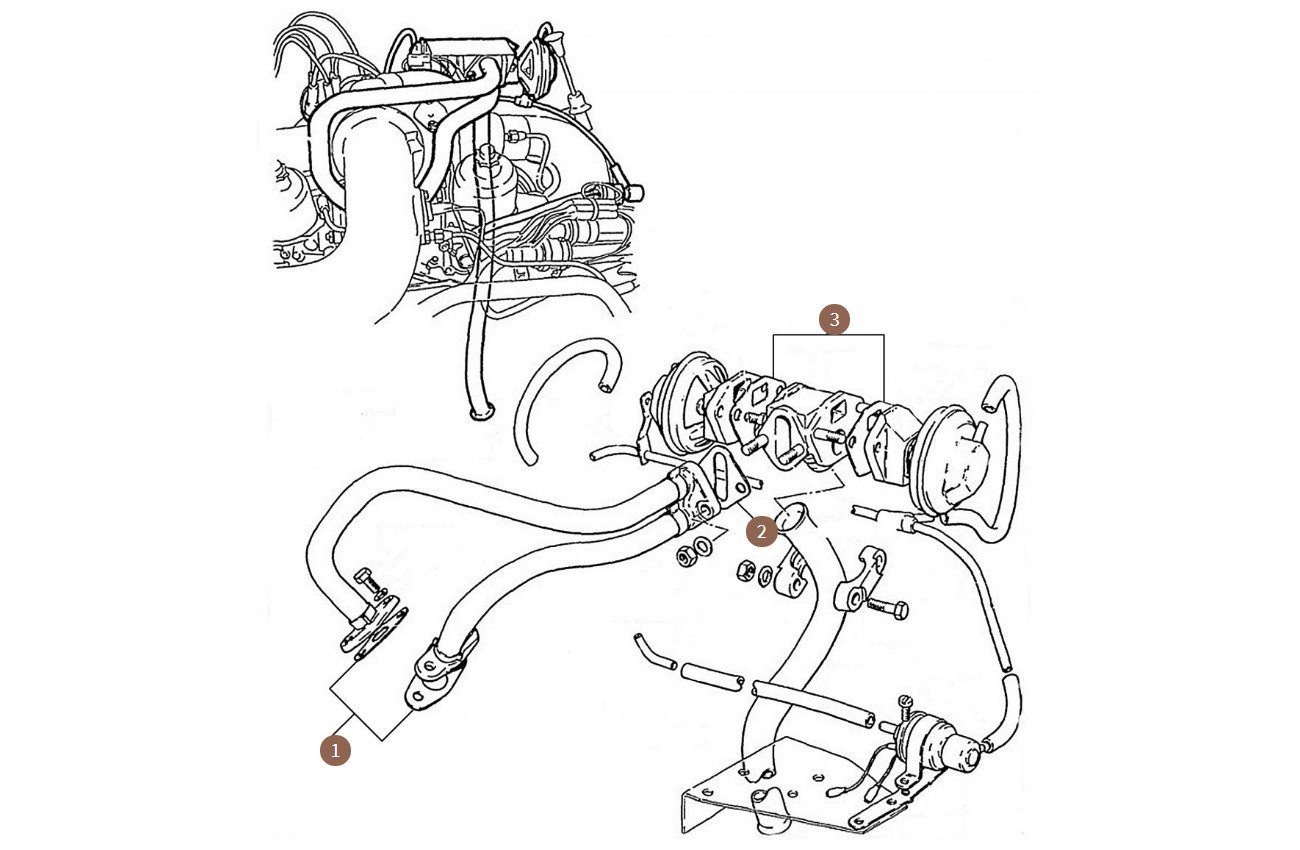 Exhaust Gas Recirculation System Gaskets (USA Cars)