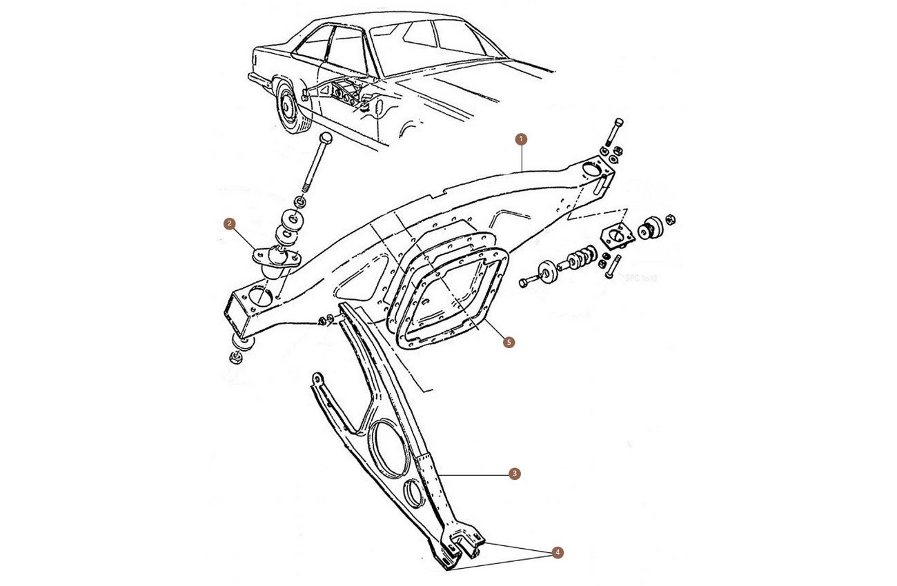 Differential Carrier & Torque Arm