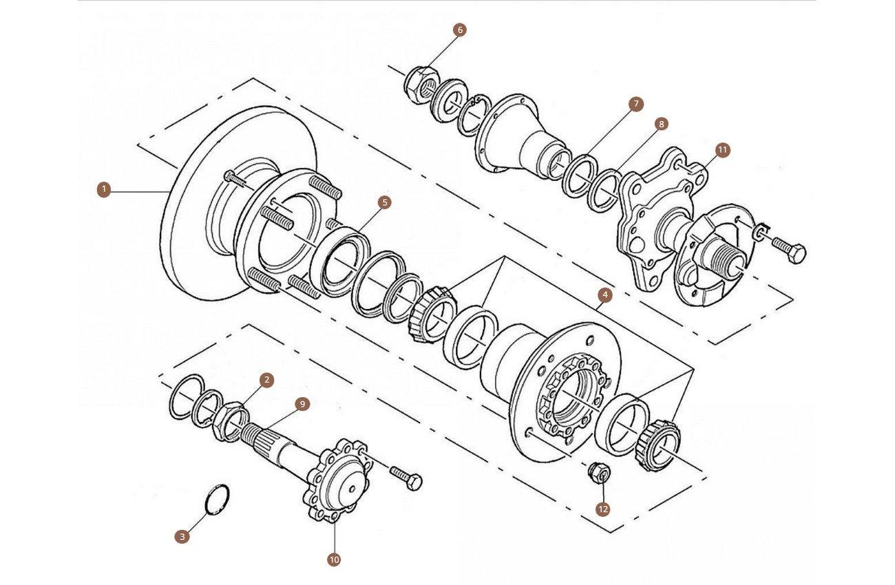 Rear Hub & Wheel Bearings