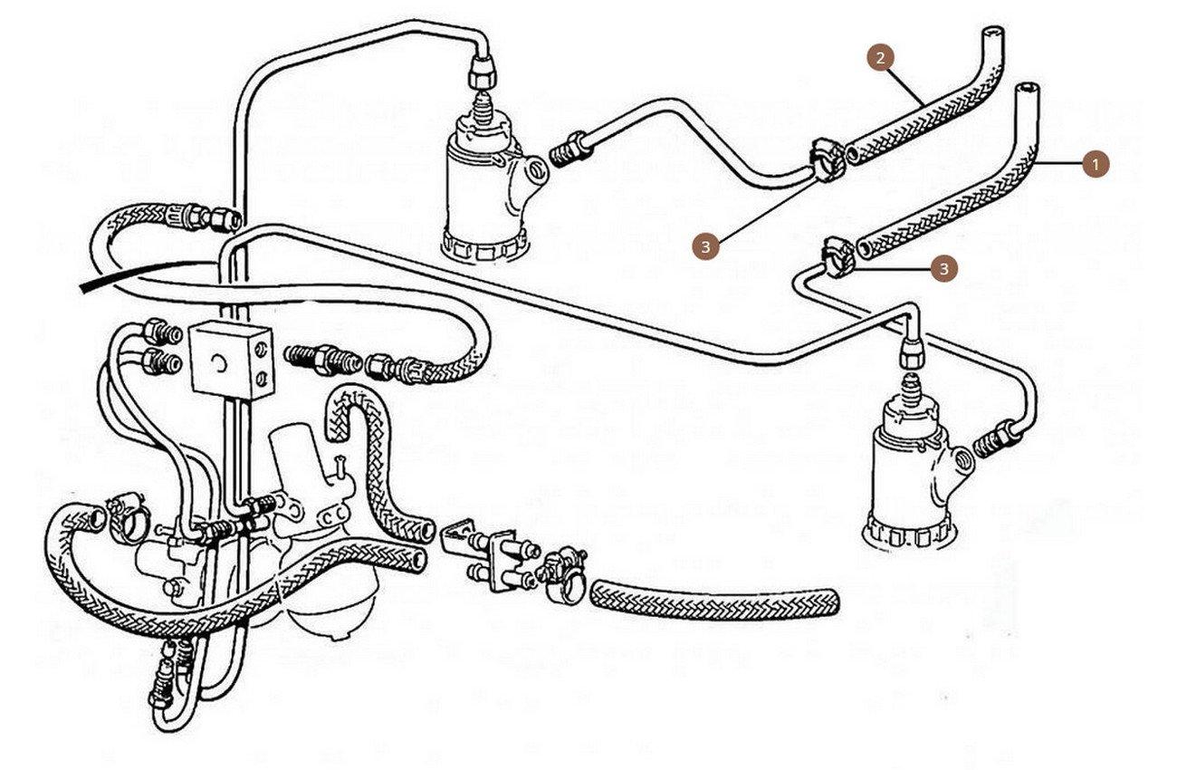 Feed Hoses Brake Pump