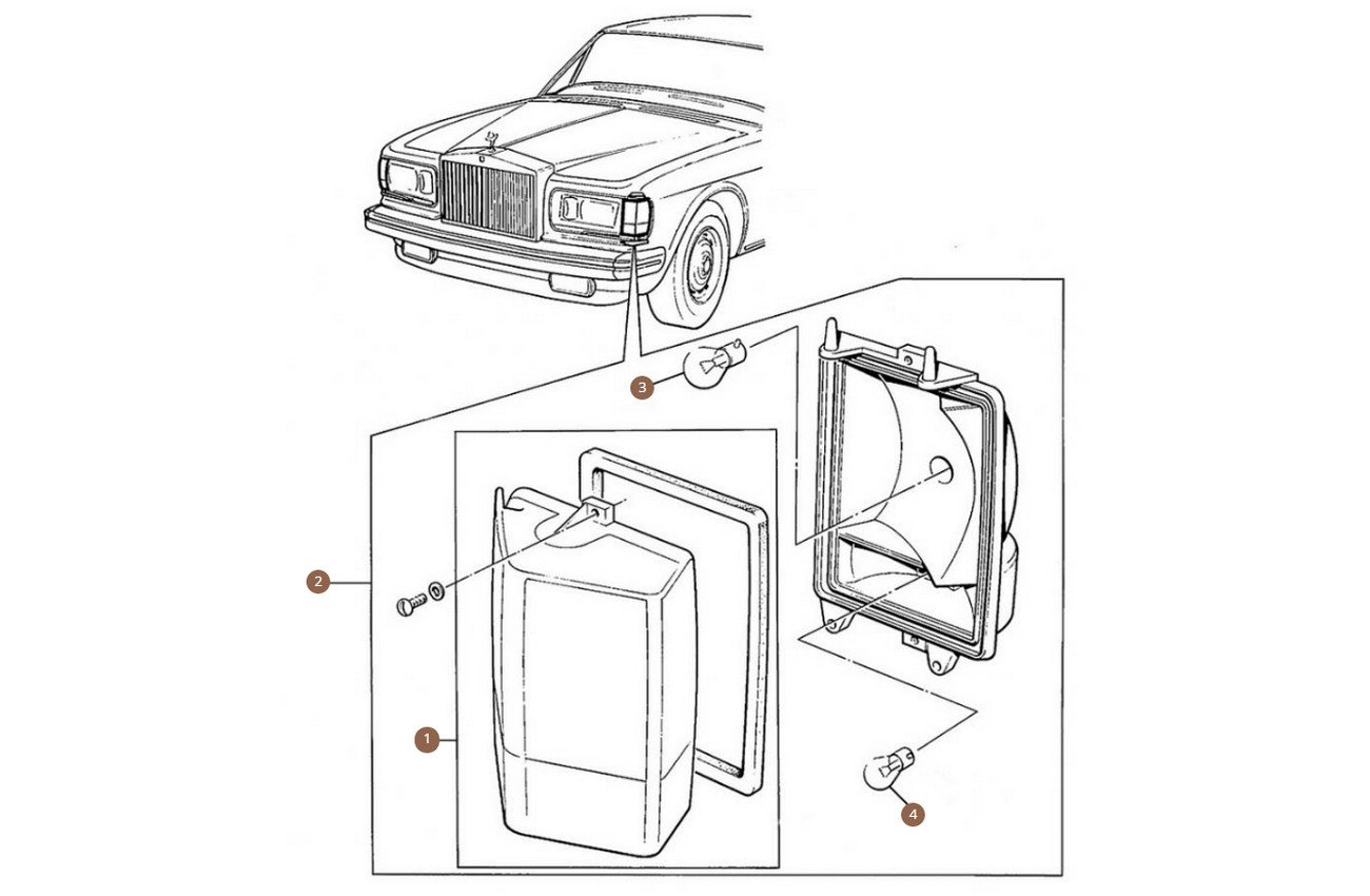 Front indicator, Lenses & Relays