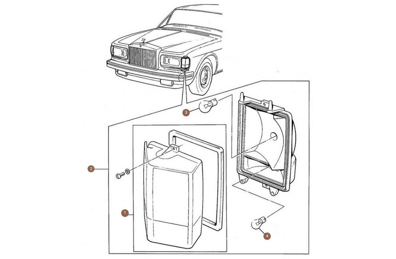 Front Indicator Amber Lens (USA cars)
