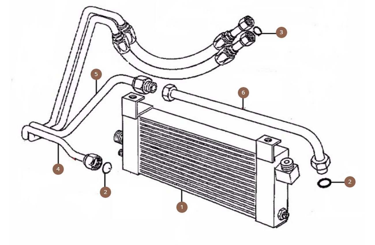 Oil Cooler & Pipes