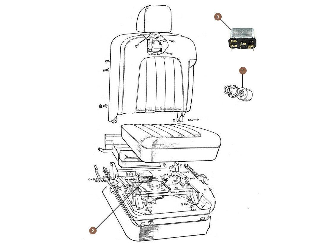 Seat Switches, Motors & Relays