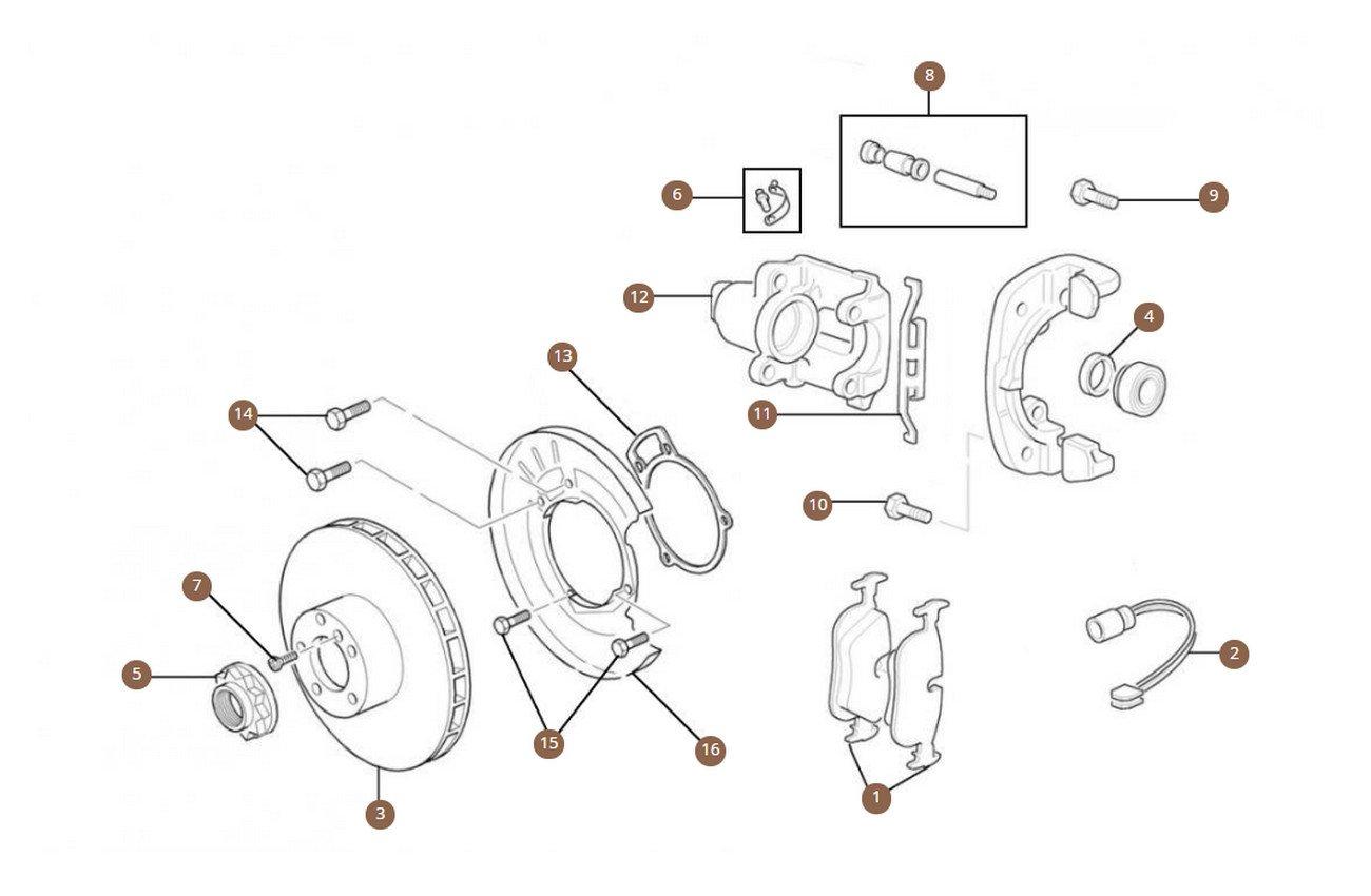 Rear Brake Discs, Pads & Calipers