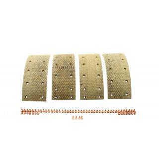 Lining & rivets brake shoe front