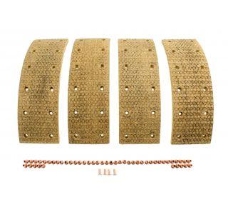 Lining & rivets brake shoe rear