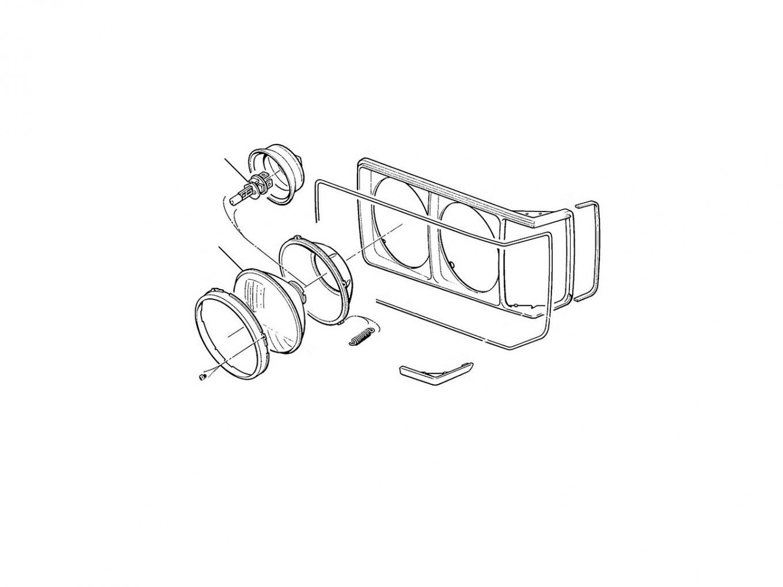 40688 Headlamps Round (Bentley) - LHD Cars
