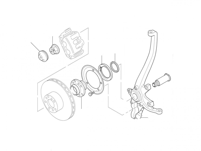 50550 Hub & Bearings Front - Hub & Bearings Front