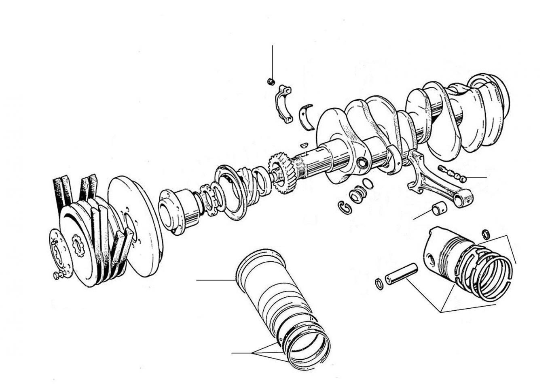 20790 Crankshaft & Pistons - S/Cloud II