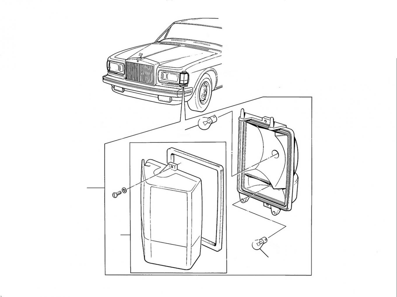 40681 Front indicator - Front Indicator Amber Lens (USA cars)