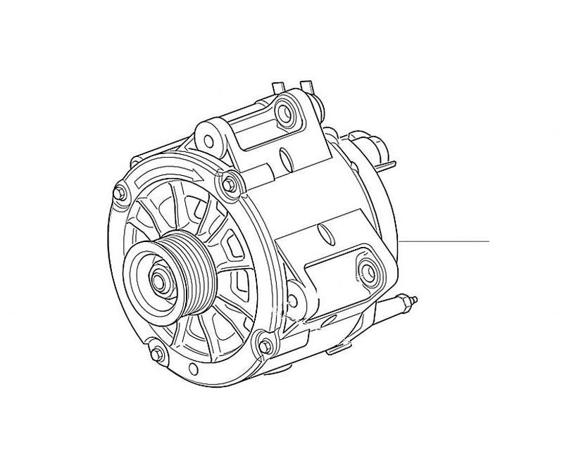 50228 Alternator & Regulators Bentley Bentley Arnage R, T 11205 onwards & Bentley Azure - Bentley Azure