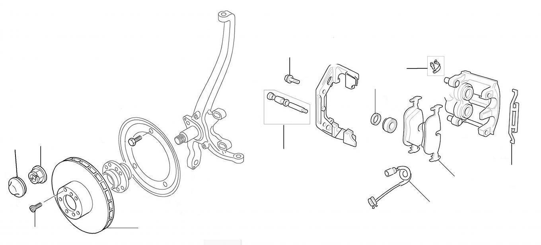 50150 Brake Discs & Pads Front Brake Discs & Pads Bentley Arnage & Silver Seraph - VIN 01001 till 03500