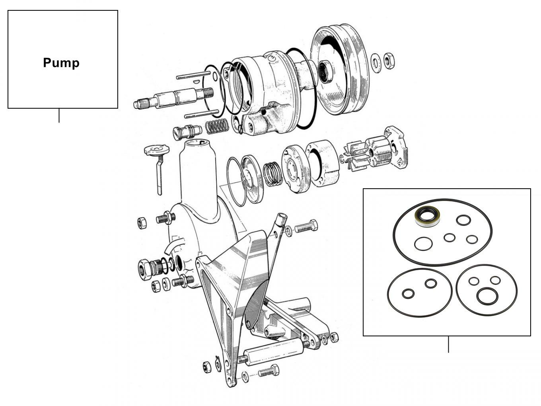 31082 Steering pump RH8605 - VIN 04549-39523 (Saginaw pump)