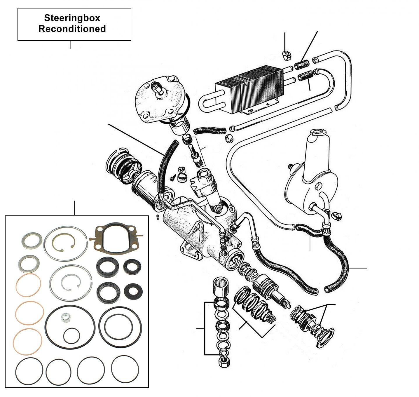31086 Steering box - VIN 01001 till 11215