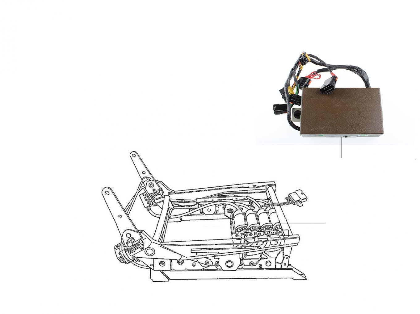 40722 Seat motor, Switches & Memory units - VIN 20000 till 30000