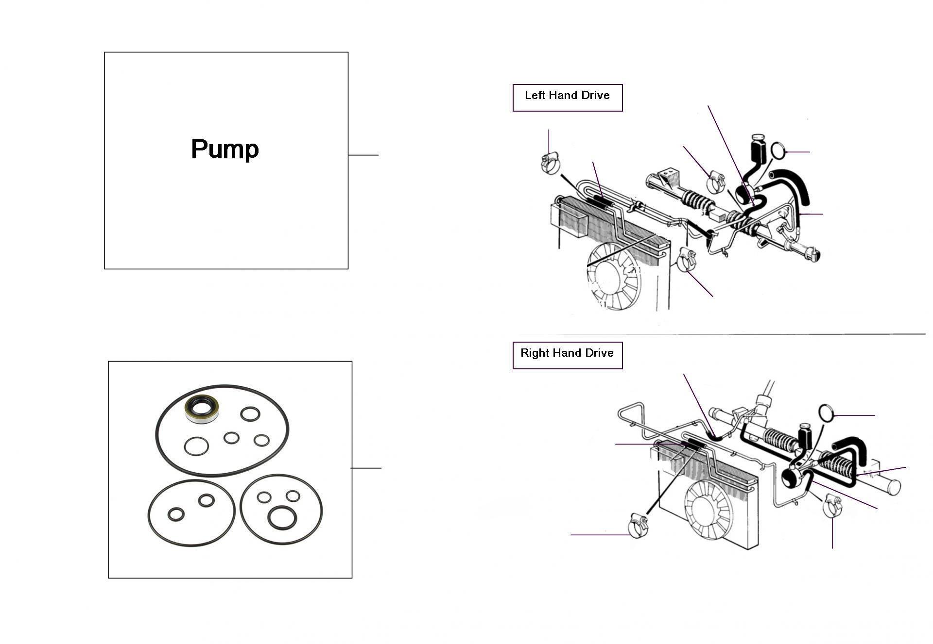 43047 Steering-Pump  10069-20000 - VIN 10069 till 20000