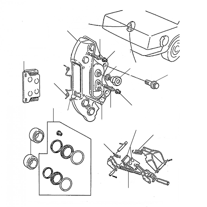 40464 Rear Brake Pads & Callipers - VIN 01001 till 50000