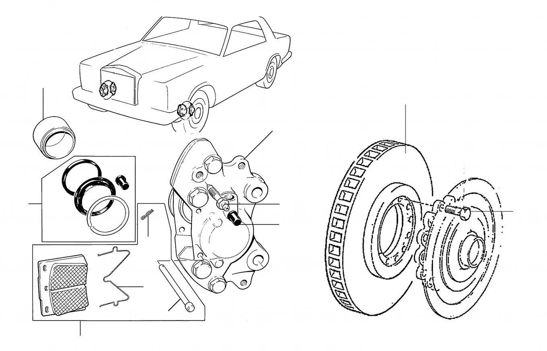 40451 Front brakes - VIN 50001 onwards