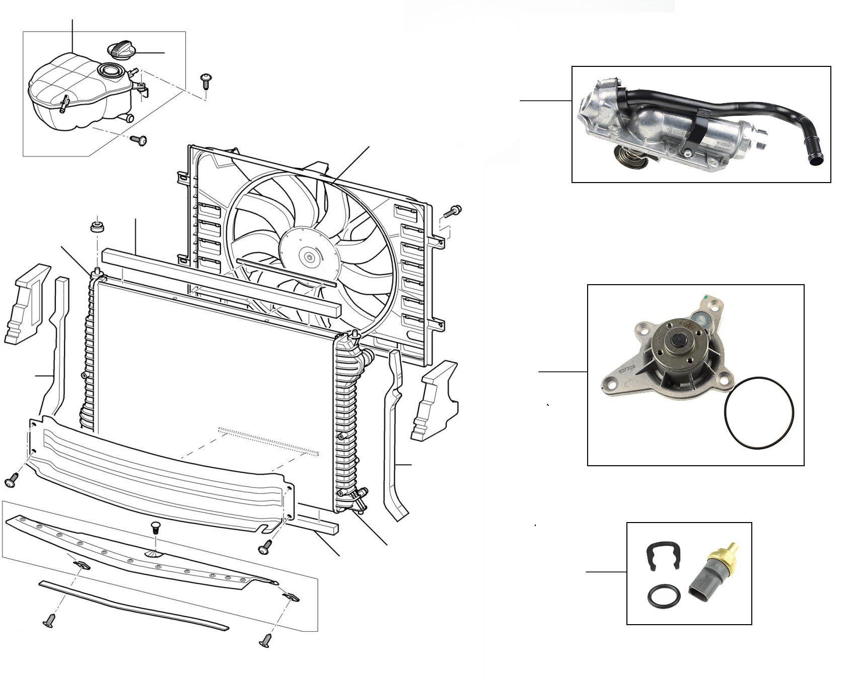 60306 W12 Engine Radiator 2006 till 2011 single fan  - 2012 onwards