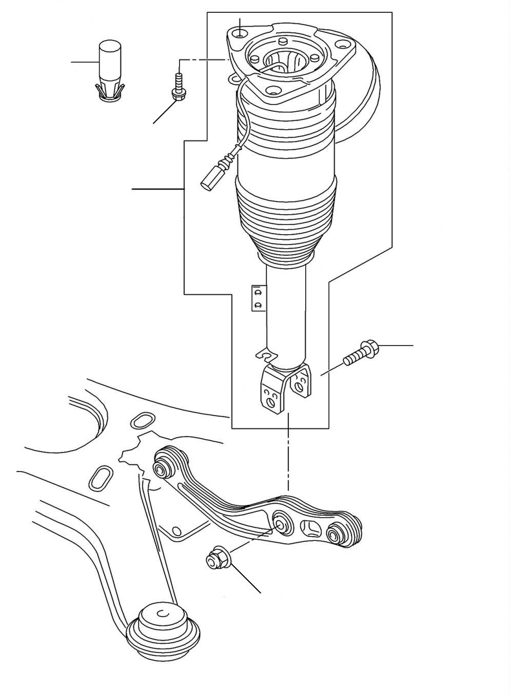 60900 Air spring damper rear Continental GT - GT (2004-2011)
