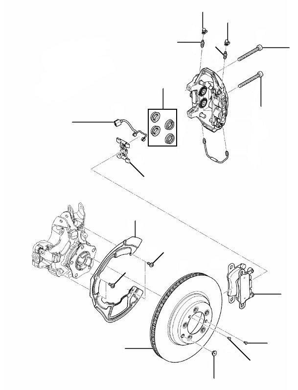 Rear brakes gt 2018 onwards - 2019 onwards