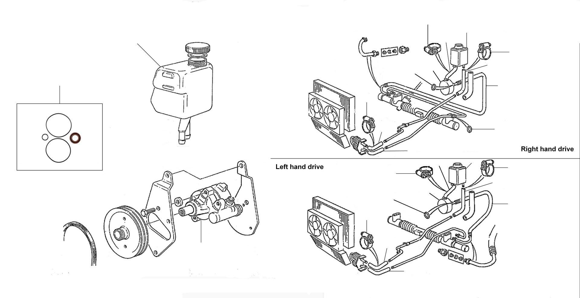 43044 Steering pump 30001 till 46783 - VIN 30001 till 46783