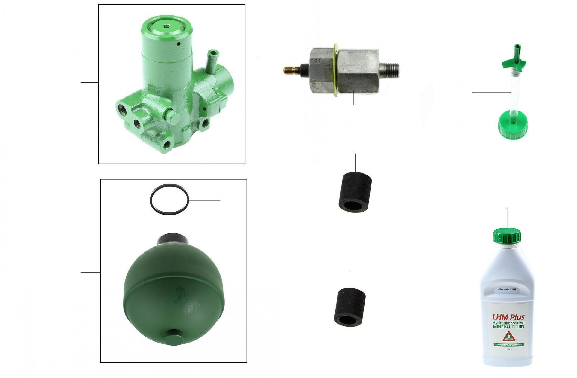 40434 Accumulator Spheres & Valve Bodies - VIN 50000 onwards (mineral fluid cars)