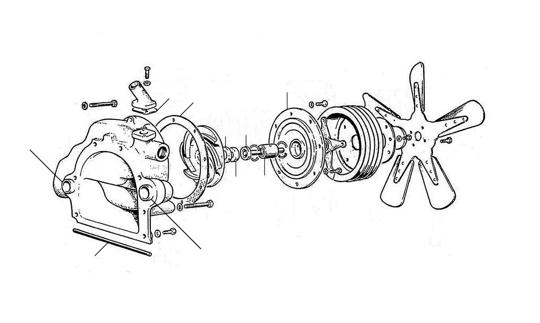 20527 Coolant pump Cloud II+III - Water Pump