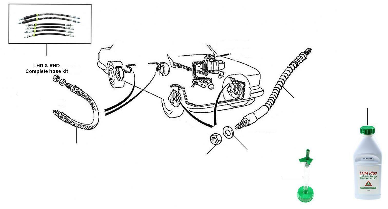 40494 Caliper & Rat Trap Hoses 20000-onwards - VIN 20000 onwards