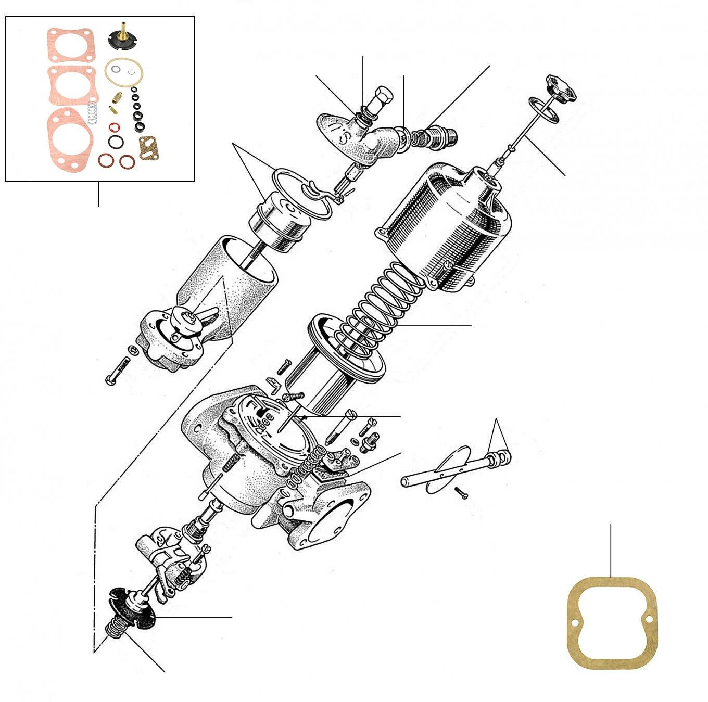 30920 Carburettor 01001-060002 - VIN 01001 till 06000