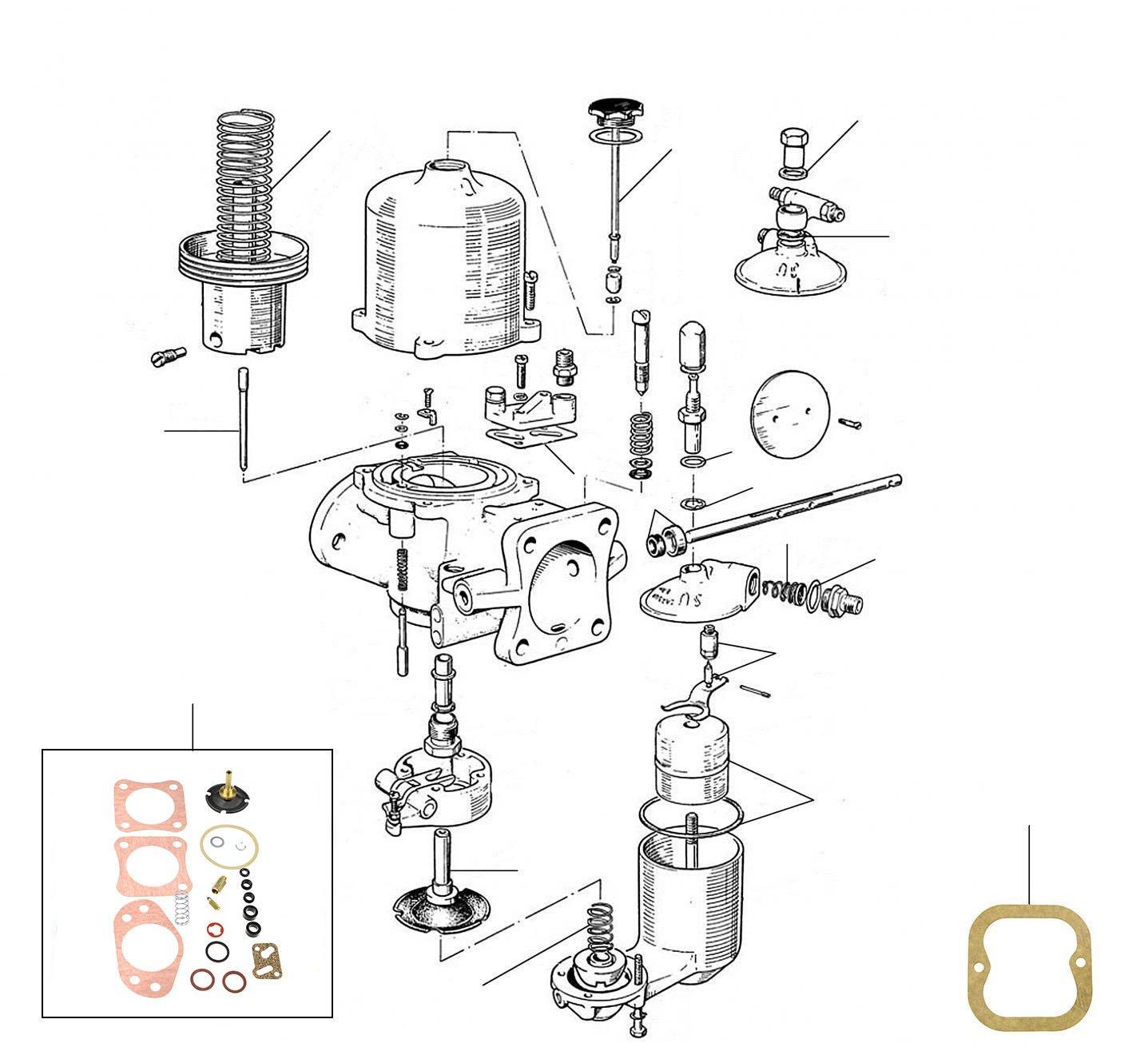30922 Carburettor 06001-7324 - VIN 06001 till 07324