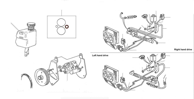 43040 Steering pump turbo 50001 onwards - VIN 20000 till 24512