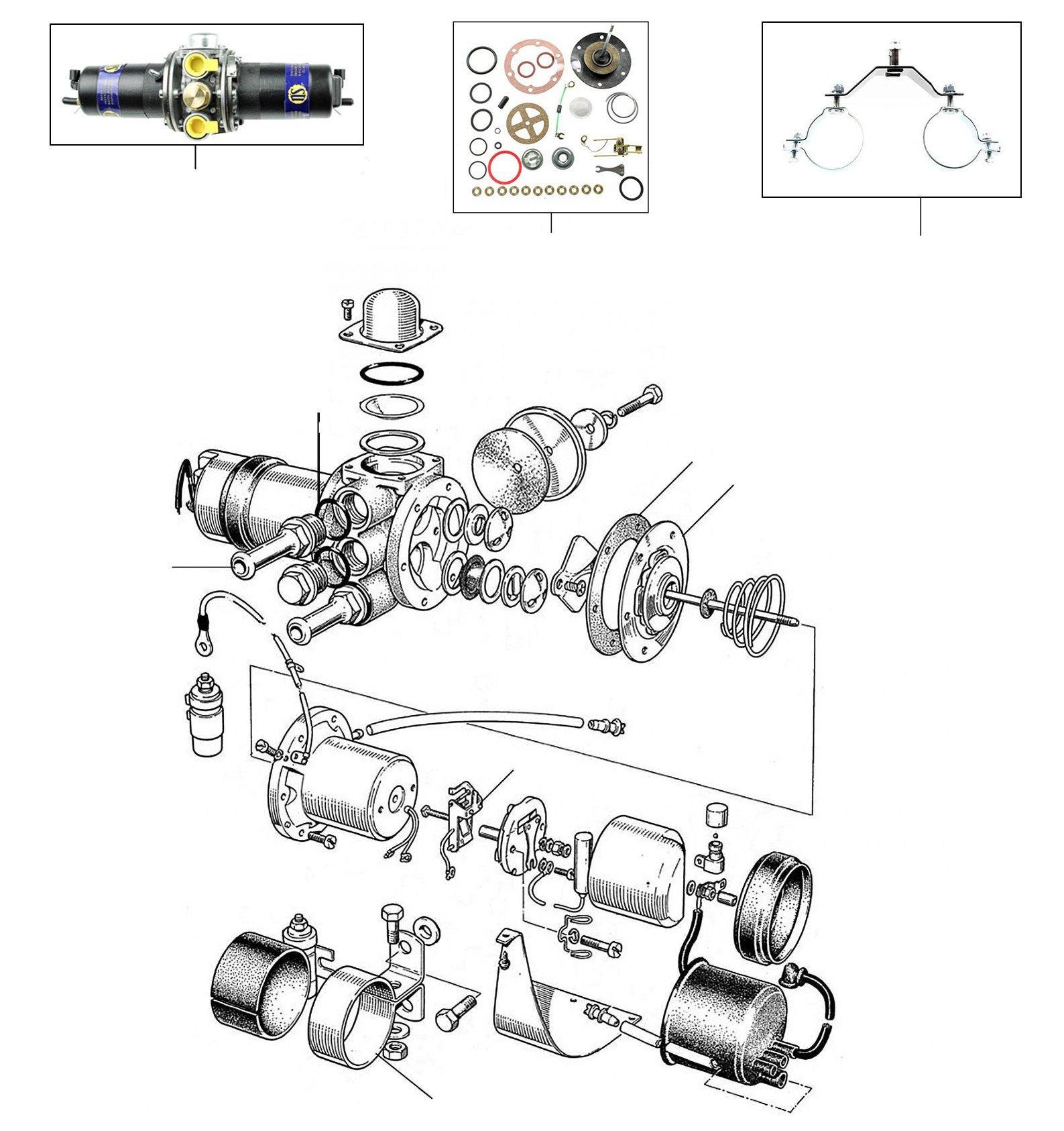 30940 Fuel pump - VIN 01001 till 27000