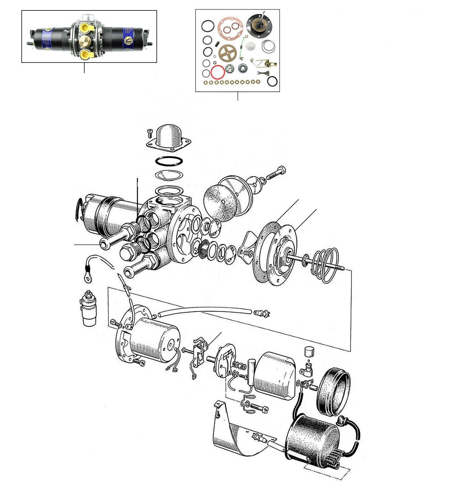 30940 Fuel pump - VIN 30000-onwards (other than USA & Japan)