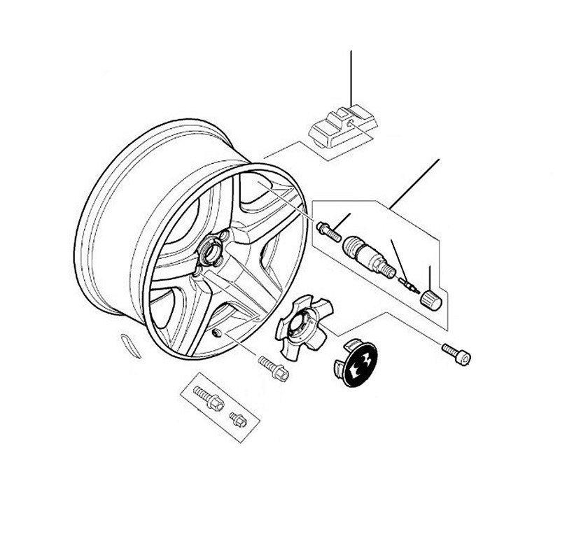 Tyre pressure sensor flying spur 2005-2006 - 2005 till 2006