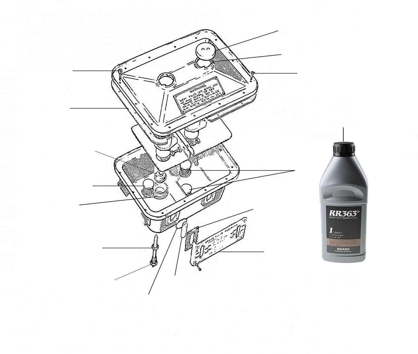 30440 Brake fluid reservoir - VIN 01001 till 42000